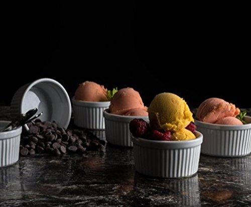 Accguan Set of 8 PCS 6 oz Round Porcelain Oven Safe Ramekin Dessert Souffle Baking Dish(3.5 INCHES) (White) by Accguan (Image #5)