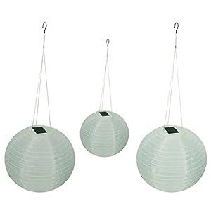 """414RAH9ffBL. SS300  - Solar Wholesale Shoji Solar Lanterns, 12"""" Diameter (3 Pack)"""