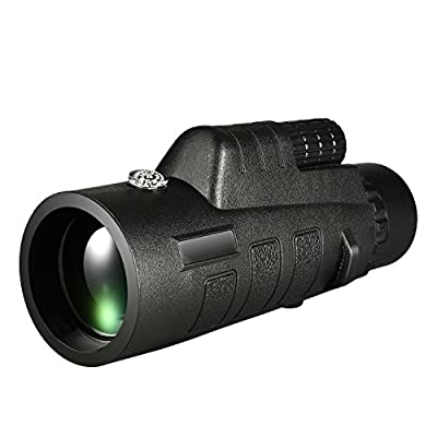 CVLIFE 12x50 Compact Monocular Telescope Pocket Mono Spotting Scope With Compass and Pouch by Huihaozi