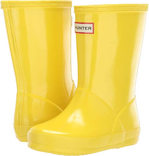 Price comparison product image Hunter Kids Unisex Original Kids' First Classic Gloss Rain Boot (Toddler) Wader Yellow 10 M US Toddler