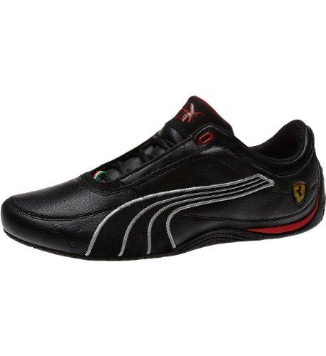 Puma Drift Cat 4 SF Carbon Fashion Sneaker,Black/Rosso Corsa,4 D US