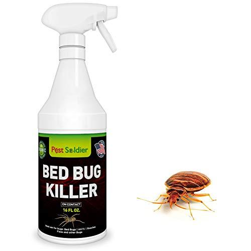Bed Bug Killer, Natural Organic Formula Fastest, 16 oz by Pest Soldier