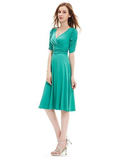Ever-Pretty HE03632MQ06 - Vestido para mujer Turquesa