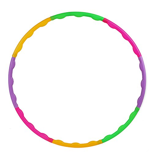 GREATLOVE Kids Hula Hoop Toys - Detachable Plastic Hula Hoop as Fitness Equipment for Adults