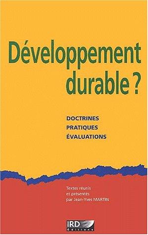 Download Developpement durable ? doctrines, pratiques, evaluations ebook
