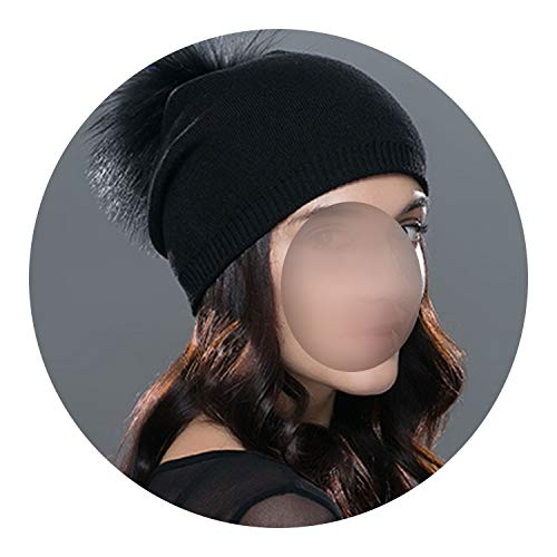 Pursuit-of-self Winter Women Wool Knitted Thick Warm Lined Beanies hat,01A,China
