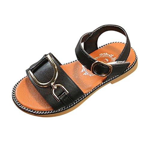 Vincent&July Baby Shoes Summer Infant Toddler Girls Non-Slip Summer Sandals Princess First Walker Moccasins Shoes 1-9T (Size(CN):25(3-3.5years Old), Black)