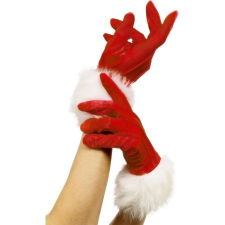 MISS SANTA GLOVES mittens sexy claus christmas holiday costume accessory (Misses Claus Costume)