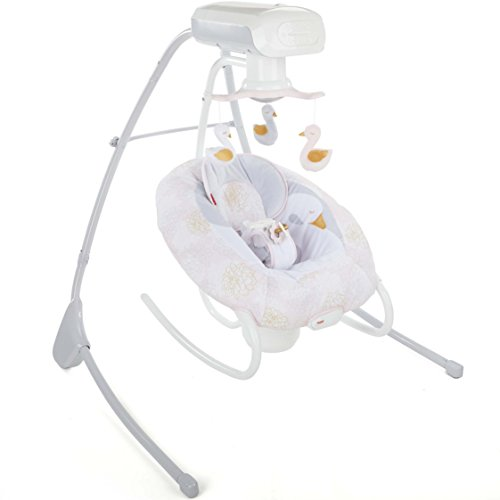 Fisher-Price My Sweet Swan 2-in-1 Deluxe Cradle 'n Swing