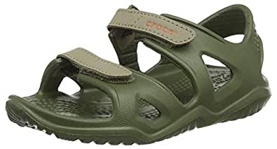 Crocs Unisex Kids Swiftwater River Sandal, Army Green, C8