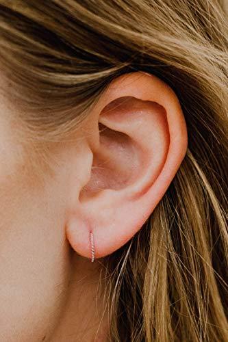 Fancy Twist Hoop - 18 Gauge Rose Gold Filled 8 MM Twist Chord Nose Hoop Ring 18G