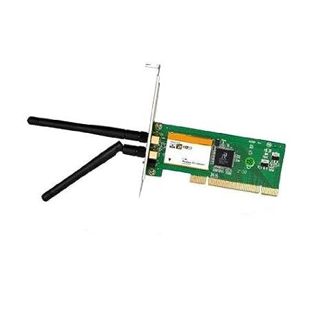 Tenda W322P+ Adaptador y Tarjeta de Red WLAN 300 Mbit/s Interno - Accesorio de Red (Interno, Inalámbrico, PCI, WLAN, 300 Mbit/s, Negro, Verde)
