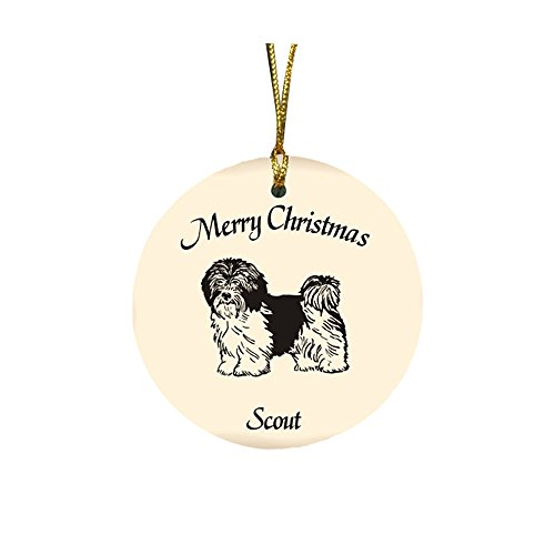 GiftsForYouNow Dog Breed Personalized Christmas Ornament, Havanese