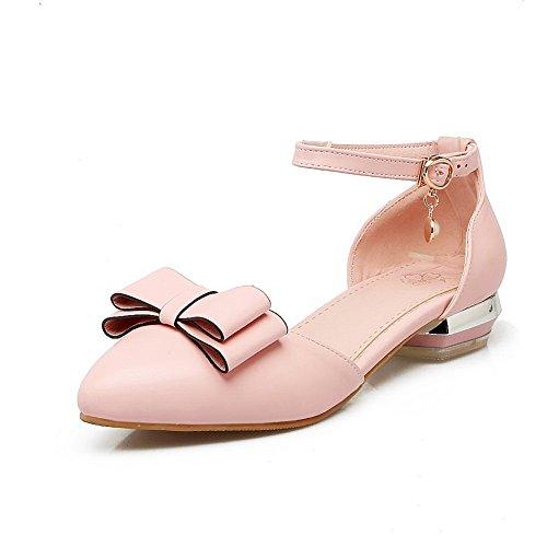 BalaMasa Pink Marking Mini Toggle Sandals Size ASL05108 Urethane Non Womens RBqAFwRxH