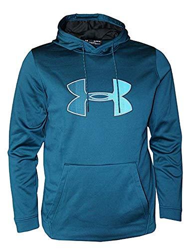 Logo Mens Hoodie Sweatshirt - Under Armour Mens Cold Gear Ua Graphic Logo Hoodie (Large), Techno Teal