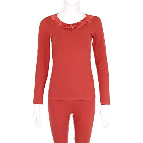Moda Manga Splice Sólidos Primavera Dormir Mujer Colores De El Ropa Pijama Cuello Elegante Bastante Redondo Encaje Conjunto Para Otoño B Batas Hogar Larga Noche Pantalones Y1qwf74q