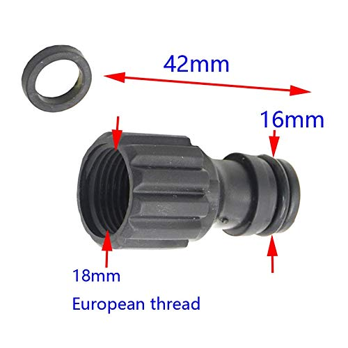 Car Washer Diaphragm Pump 18Mm Female Thread Nipple Joint for Quick Connector Pipe Connection Car Washing Spare Parts 4Pcs