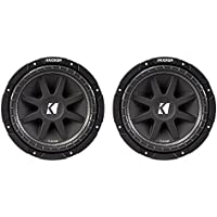 Kicker C154 Comp 15 600 Watt 4 Ohm Car Audio Power Subwoofer, 2 Pack | 43C154
