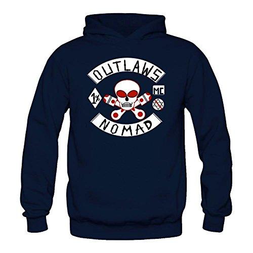 Tommery Women's Outlaw Motorcycle Club Logo Long Sleeve Sweatshirts Hoodie