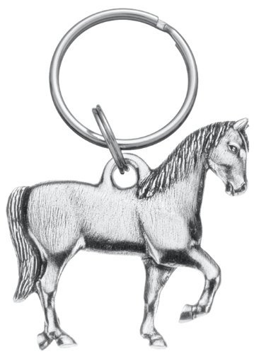 (DANFORTH - Horse Keyring - Pewter - 2 Inches - Key Fob - Handcrafted - Made in USA)