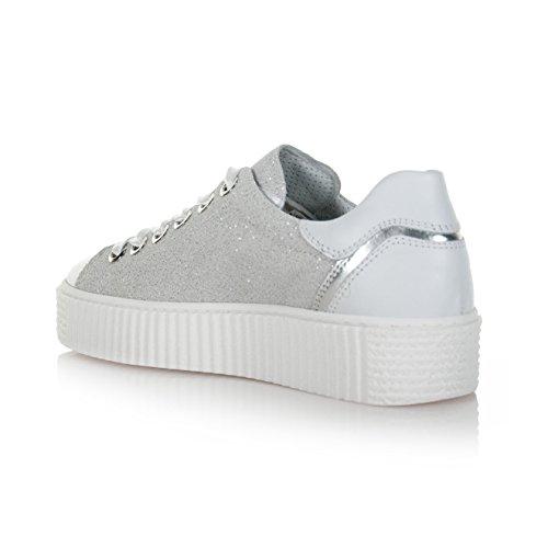 Giardini Sneaker Glitter Nero Scarpe Donna Pelle Argento In Grigio P805282d700 MLqSzVjUpG