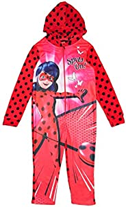 Miraculous Ladybug Girls Overrall One Piece - 4-5 Years - Red