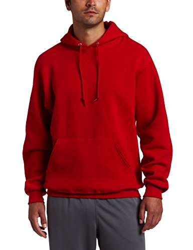 Russell Athletic Men's Dri Power Pullover Fleece Hoodie, Red, Large