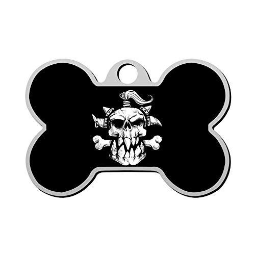 HAOPENGYOU Custom Pet ID Tags Personalized Dog Tags & Cat Tags Bone Shape Sugar Skull -