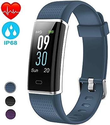 NAIXUES Pulsera Actividad Impermeable IP68, Pulsera Inteligente con Pantalla Color GPS Pulsómetro Monitor Ritmo Cardíaco y Sueño 14 Modos de Deporte ...