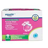 Equate Personal Wipes On the Go, Fresh Scent, With Aloe and Vitamin E, Hypoallergenic, Alcohol Free, 18 Wipes, 5.5 in x 7.4 in (14.2 cm x 19 cm)