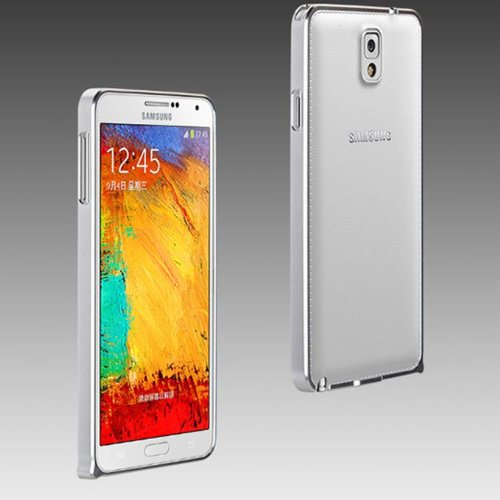 Geekbuying Ultra Thin 0.7mm Metal Aluminum Case Bumper for Samsung Galaxy Note3 N9000 (Silver)