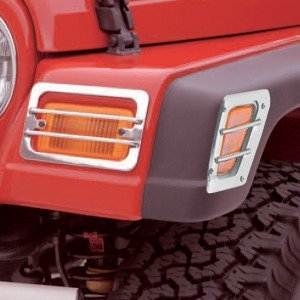 Front Side Marker and Park Euro Guards, Stainless, 98-06 Wrangler/Unlimited