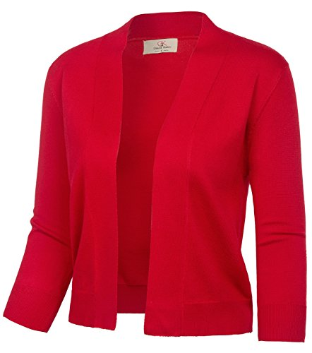 Short Flare Bolero Jacket for Cocktail Party Dress(XXXL,Red)