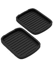 "ZAPPOWARE Silicone sponge holder -soap tray - 5.9"" X 4.33"" (Black) - Set -2pcs"