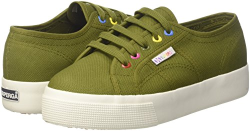 Green 2730 cotw Trainers Miltary Hearts Colors Superga Wj0 green Women''s 5qwfxY