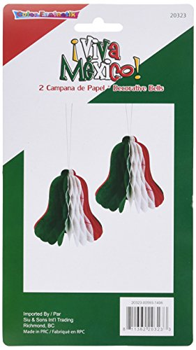 Kole Imports Viva Mexico Decorative Hanging Paper Bells -