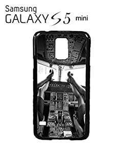 Sexy Women Pilot Cockpit Cell Phone Case Samsung Galaxy S5 Mini Black
