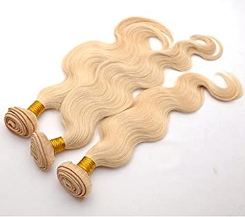 Amazon 613 blonde human hair extensions body wave blonde 613 blonde human hair extensions body wave blonde hair bundles brazilian virgin hair weaves 12 pmusecretfo Gallery