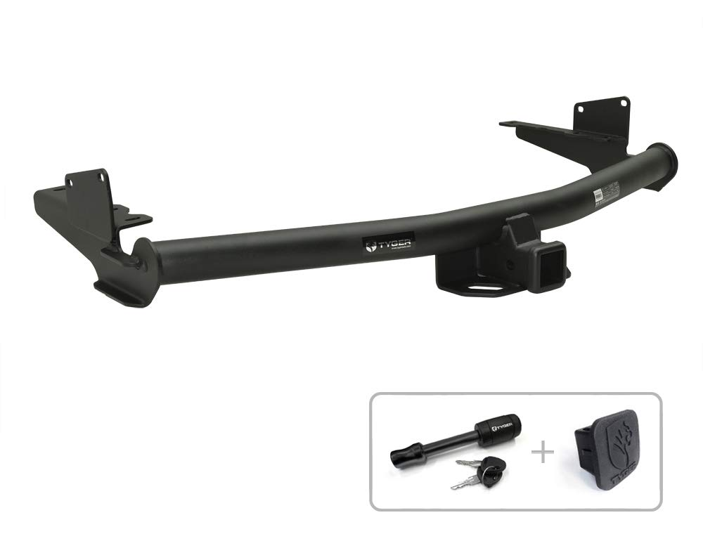 Tyger Auto TG-HC3T0338 Class 3 Trailer Hitch Combo with 2'' Receiver Cover & Pin Lock for 2008-2013 Toyota Highlander by Tyger Auto