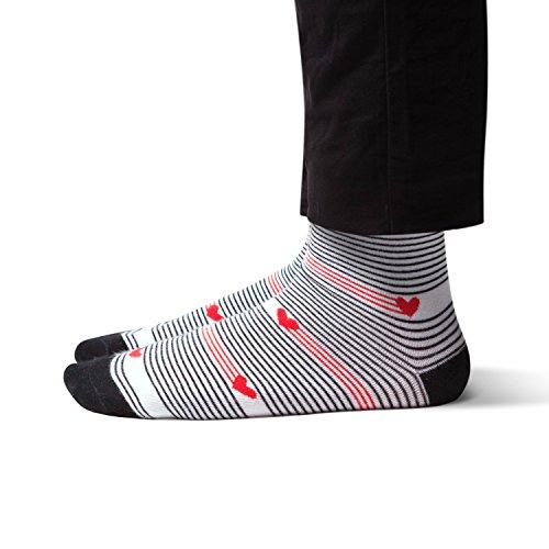 Crew Length Men's Dress Socks - TrouSox by SHEEC - Valentine's Day Heartstring (Regular | 1 Pair)