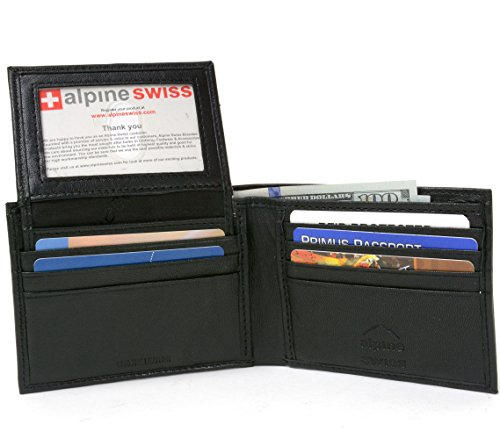 RFID Blocking Men's Leather Classic Bifold Wallet Black - Stops Electronic Pick Pocketing, Works Against Identity Theft & Credit Card Data Breach by Stopping RFID Scans.