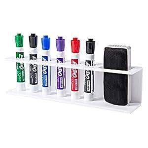 Amazon.com : 6 Slot White Acrylic Dry Erase Marker and