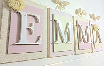 nursery wall letters wooden letters nursery wall decor 6x8