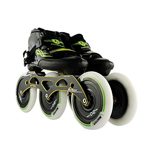 悪因子表向きフレキシブルailj スピードスケートシューズ3 * 125MM調整可能なインラインスケート、ストレートスケートシューズ(5色) (色 : Orange, サイズ さいず : EU 38/US 6/UK 5/JP 24cm)