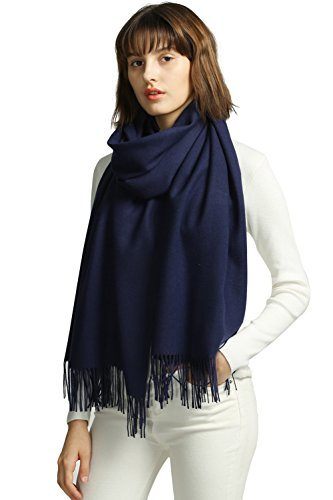 MaaMgic Womens Large Soft Cashmere Feel Pashmina Shawls Wraps Winter Light Scarf by MaaMgic