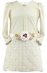Lilax Little Girls' Gold Shimmer Dress 2T