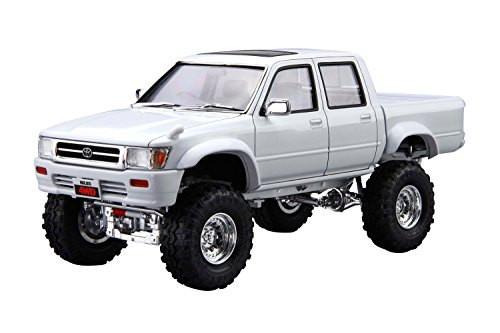 Toyota Model Kit - 1/24 the and sedans LN107 Toyota: Hilux pick up double cab lift up ' 94 model car
