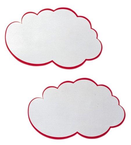 25 x 42 cm 20 St/ück Franken UMZ W Moderations-Wolken wei/ß//rot