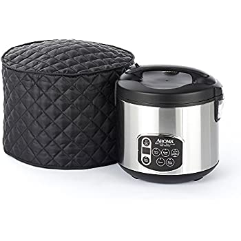 CoverMates – Rice Cooker Cover – 11D x 12H – Diamond Collection – 2 YR Warranty – Year Around Protection - Black