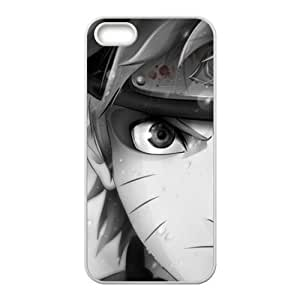 5s Case, iPhone 5 5s Case - Fashion Style New Anime Naruto Painted Pattern TPU Soft Cover Case for iPhone 5/5s(Black/white)